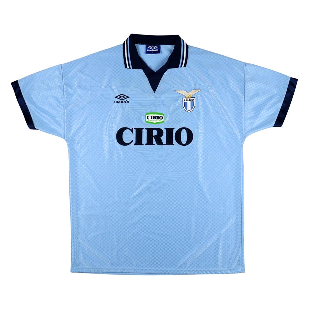 1996-97 Lazio Maglia Match Worn vs Salernitana #15 Marcolin