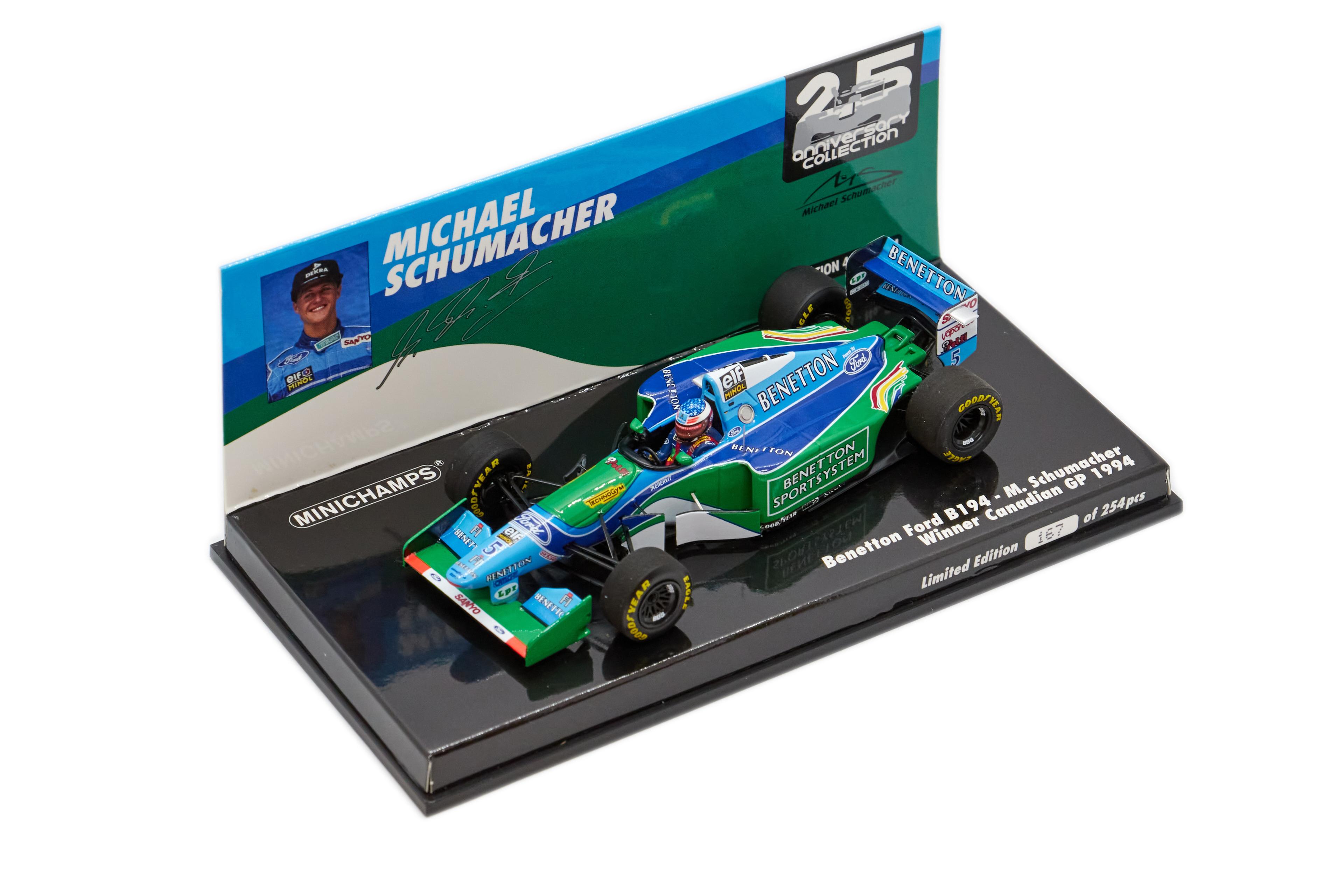 Benetton Ford B194 Michael Schumacher Canadian Gp 1994 - 1/43 Minichamps