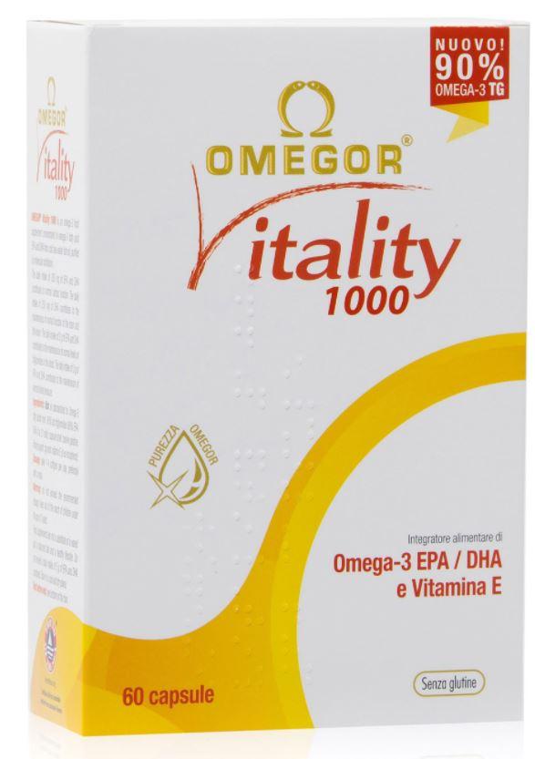 OMEGOR VITALITY 1000 - INTEGRATORE A BASE DI OMEGA-3 CONCENTRATO