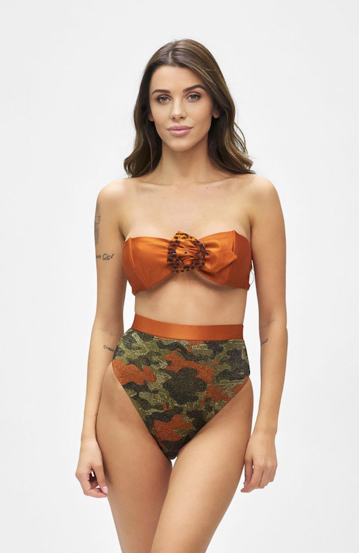 Bikini Fascia e slip retrò fisso Desert Effek Taglia M e L