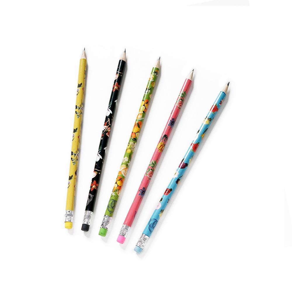 Set of botanical pencils (5 piece set)