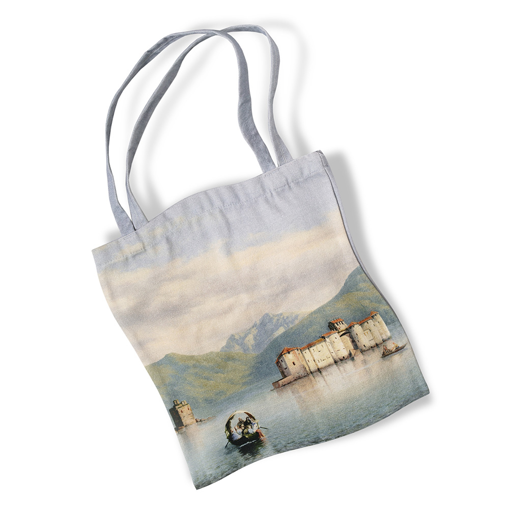 Canvas shopping bag - Castles of Cannero