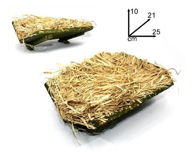 Culla in legno con paglia cm. 25