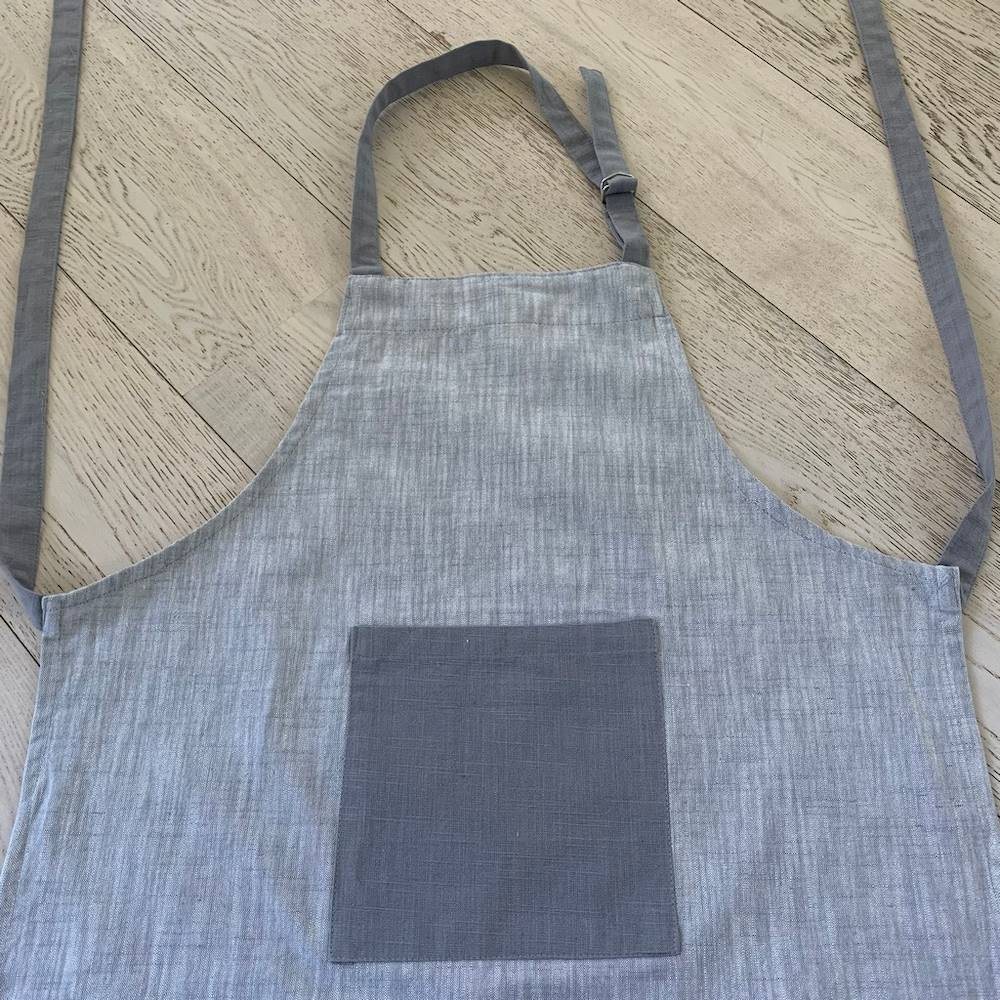 Grembiule da cucina grigio bicolor