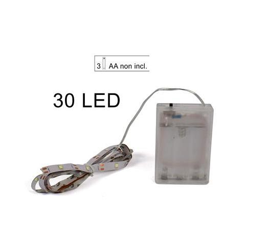 Stricia 30 led adesiva luce calda a batteria