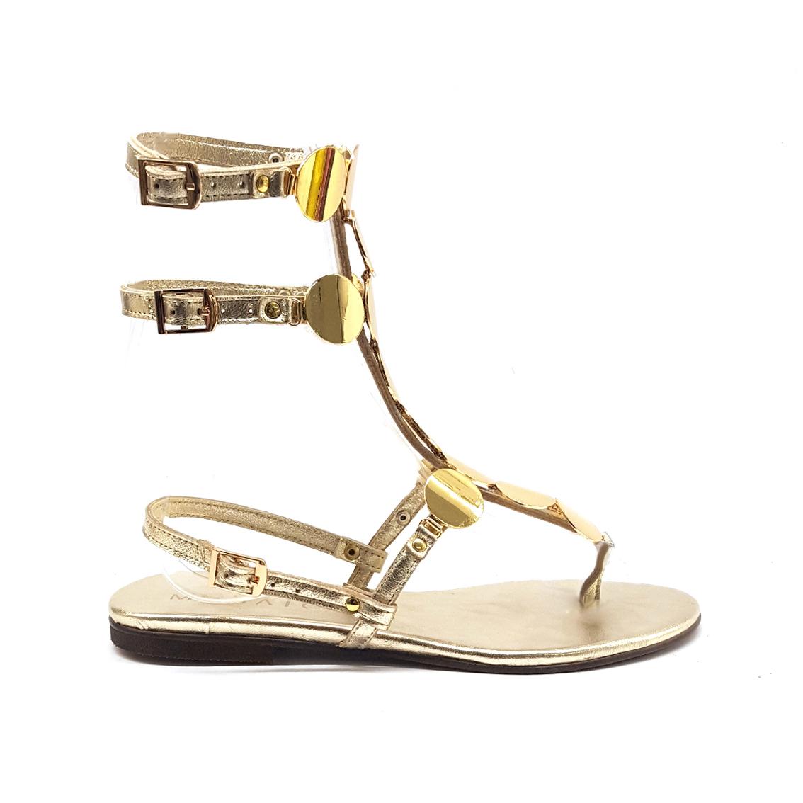 Sandalo gladiatore oro Mosaic