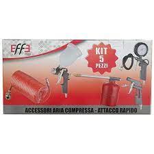 Kit Accessori Aria Compressa - Attacco Rapido Effe 5 pezzi