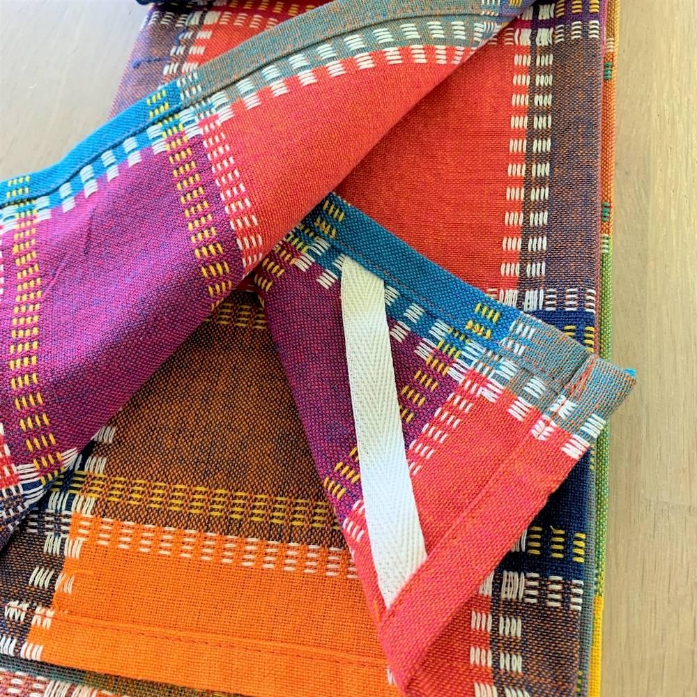 Set 3 canovacci in tela multicolor
