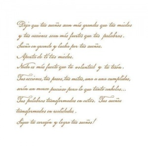 STENCIL 25X25-15 POESIA DECOR