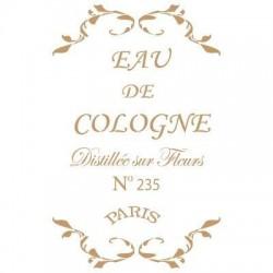 STENCIL 20X30-13 EAU DE COLOGNE DECOR