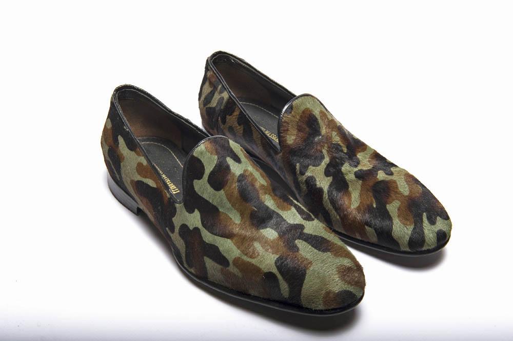 Slippers da uomo in cavallino camuflage militare