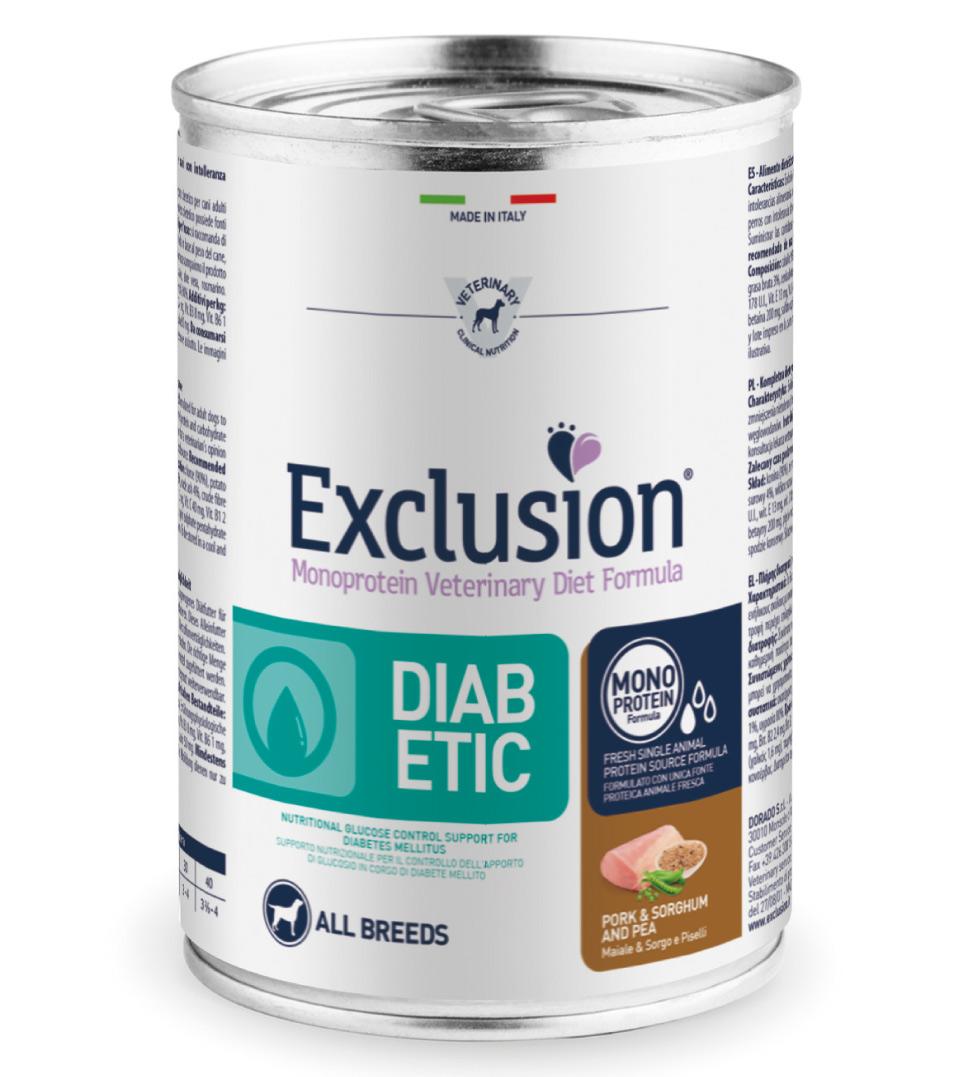 Exclusion - Veterinary Diet Canine - Diabetic - 400g x 12 lattine