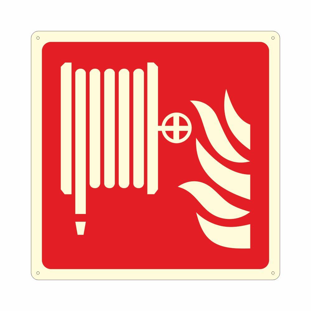 Cartello luminescente lancia antincendio