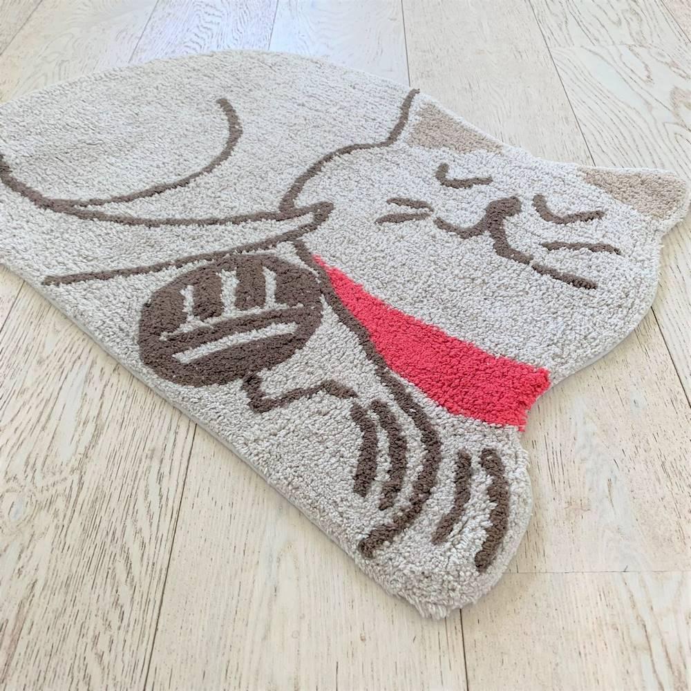 Tappeto sagomato gattino tortora antiscivolo