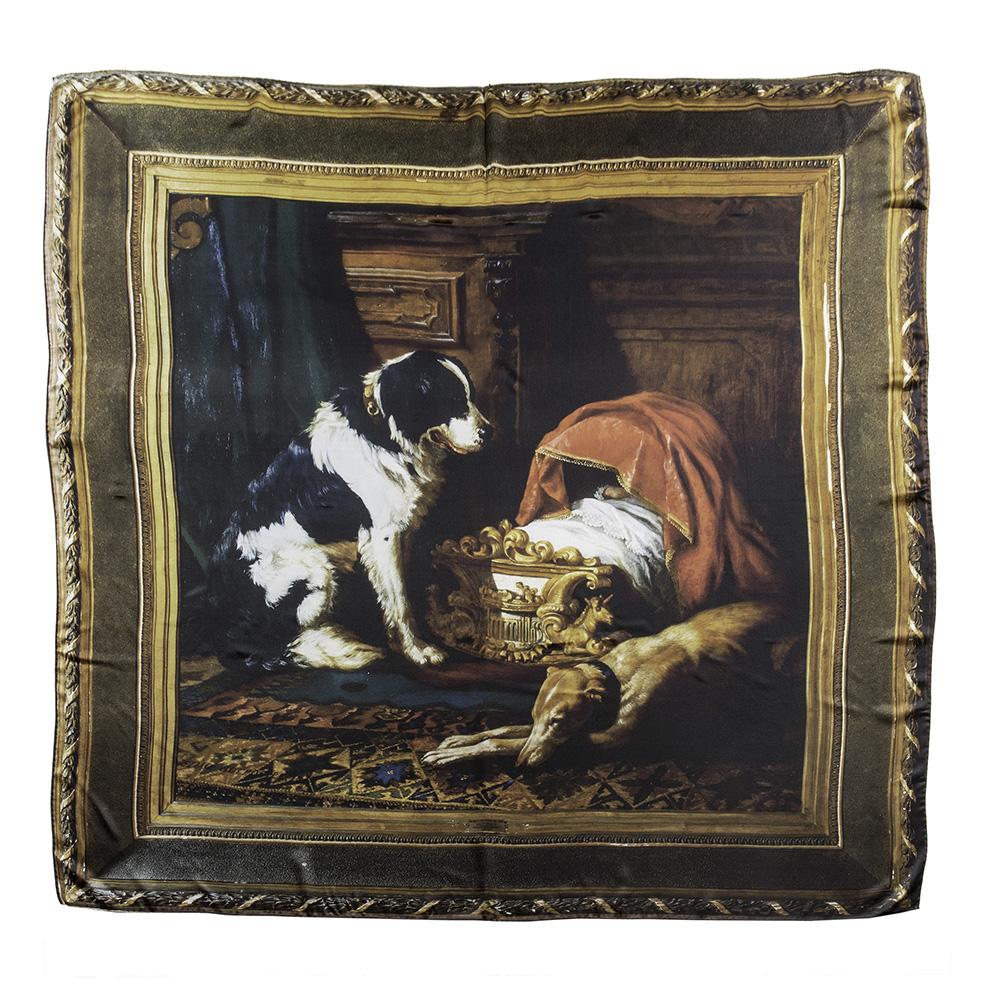 Elisabetta satin silk foulard