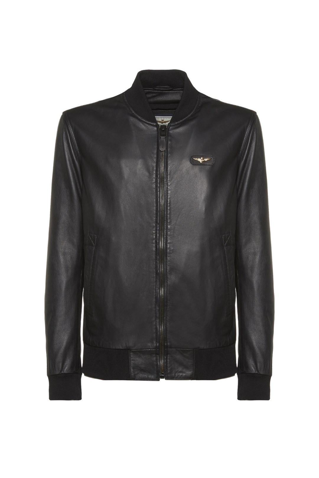Leather jacket with metal Eagle          1