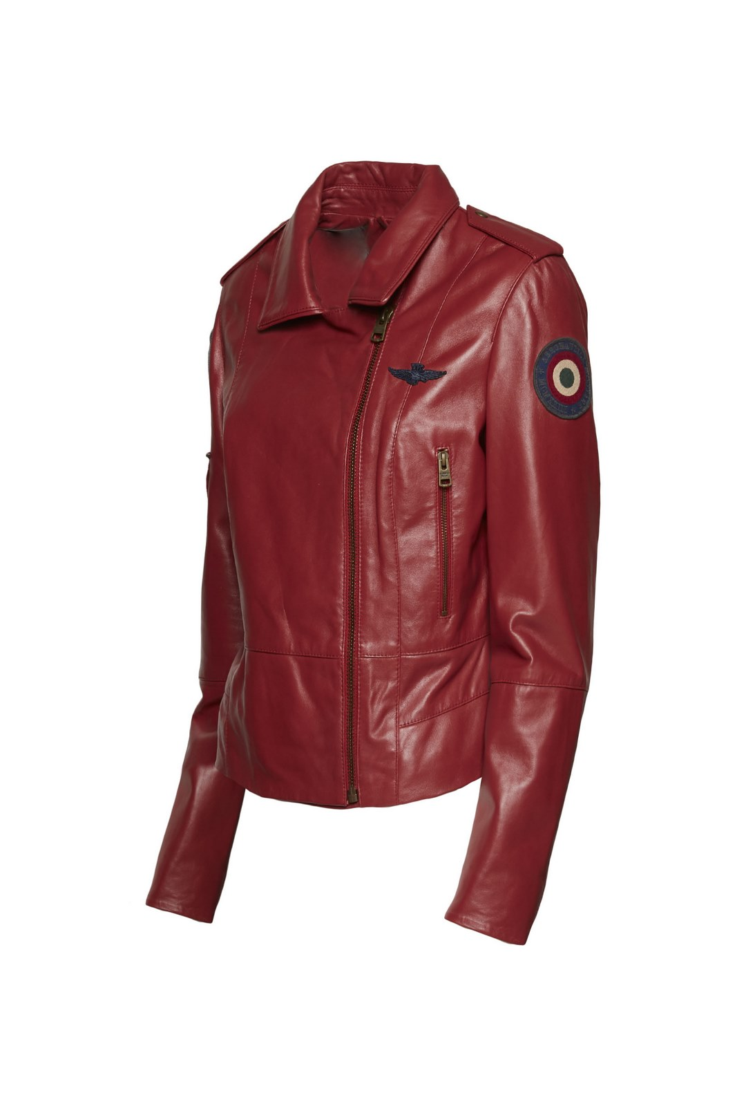 Leather jacket with writing              3
