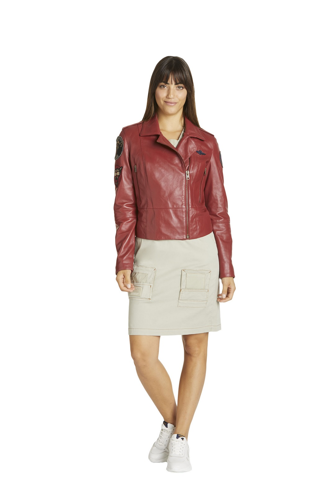 Leather jacket with writing              4