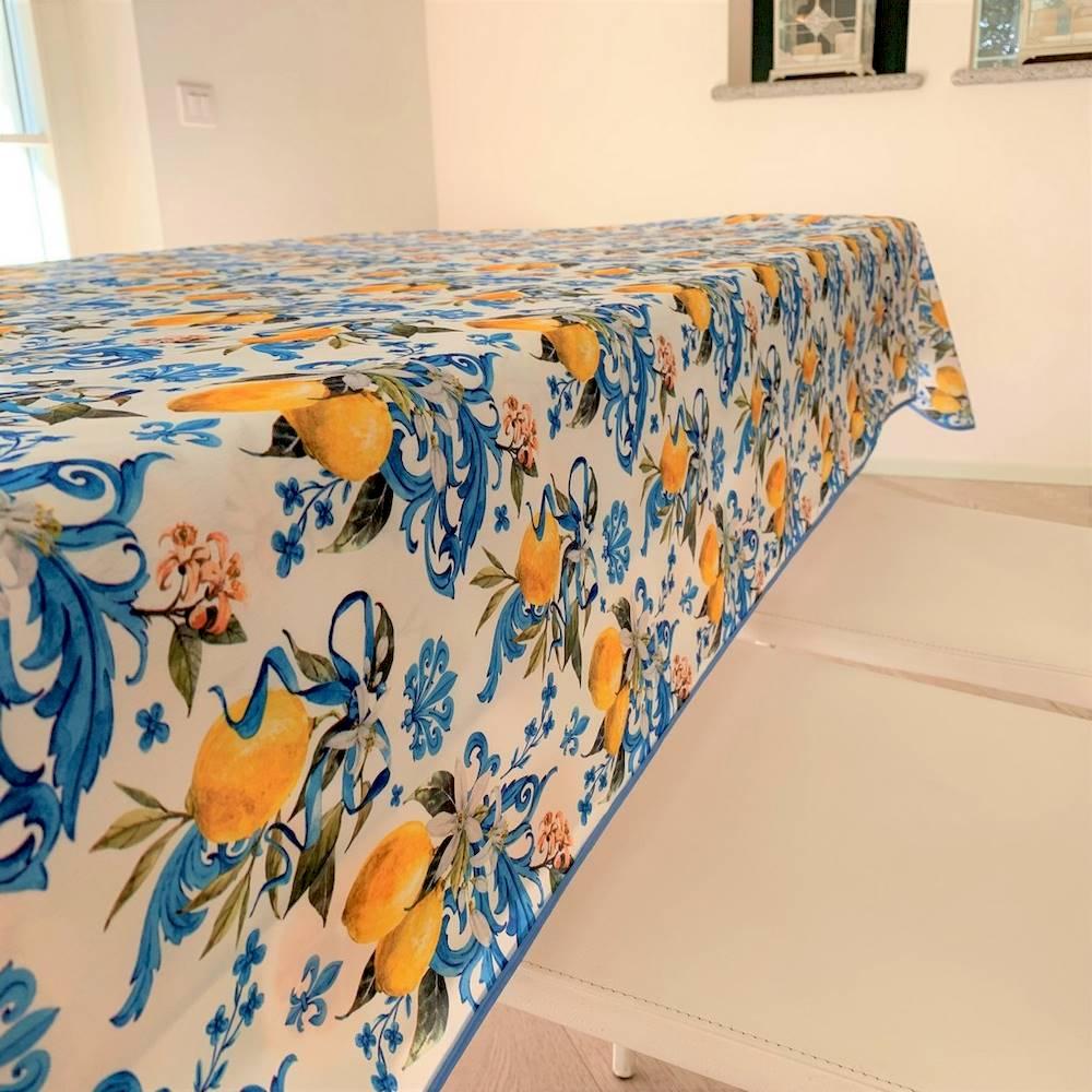 Tovaglia antimacchia Maioliche e limoni 140 x 180