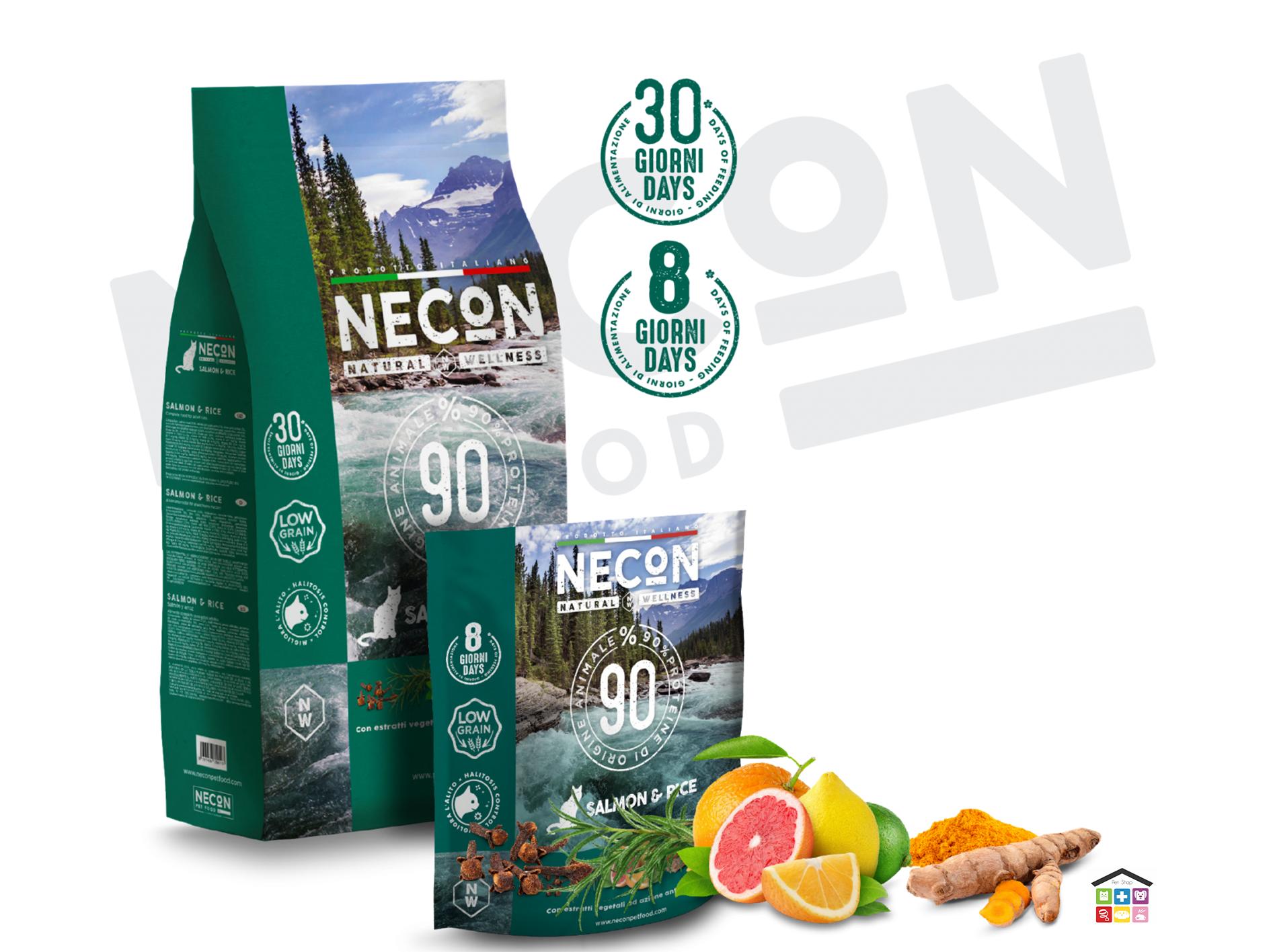 Necon salmon and rice adult per gatti 0.400/1.5 kg