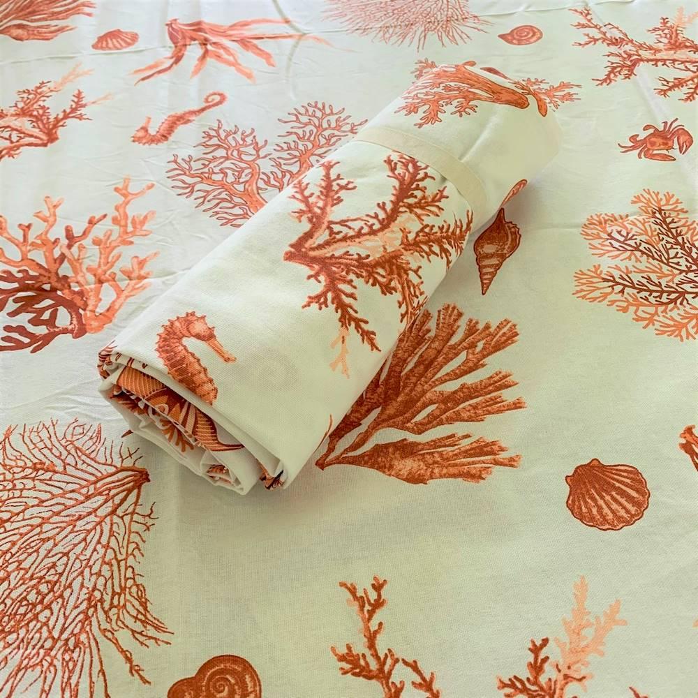 Telo Granfoulard copritutto Coralli corallo 260 x 280