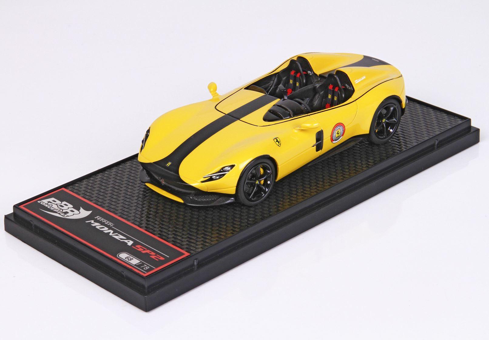 Ferrari Monza Sp2 Giallo Modena Ltd 78 Pcs 1/43 BBR