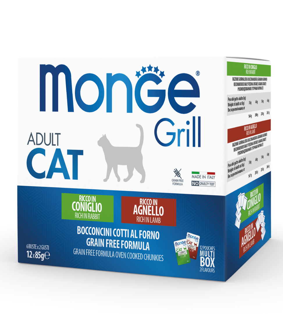 Monge Cat - Grill - Multibox - Adult - 12 buste da 85g