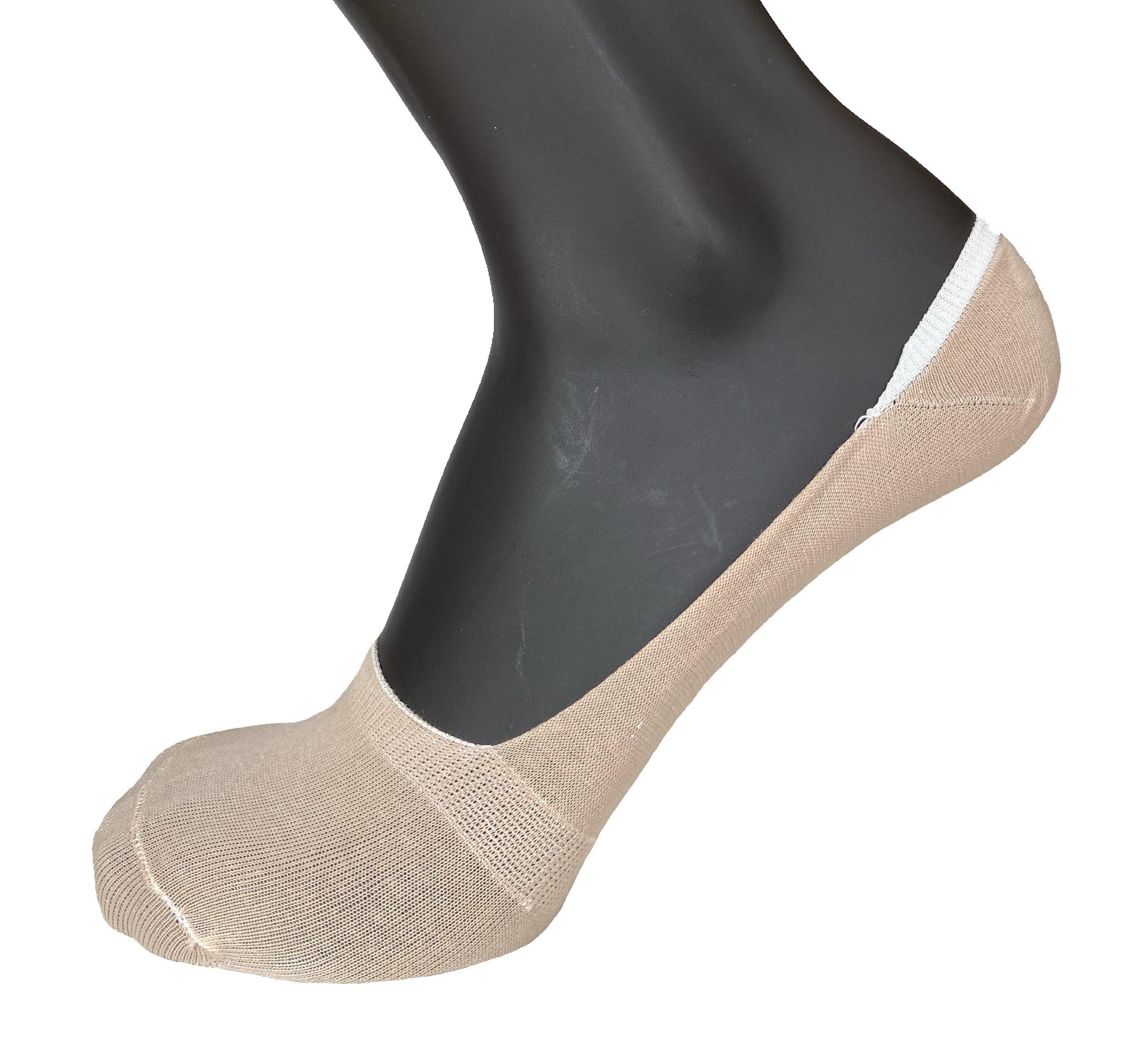 6 Paia di calzini salva piede invisibile donna cotone VIRTUS