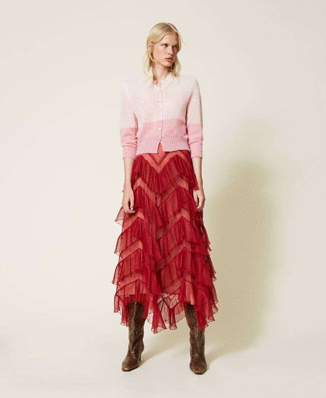 SHOPPING ON LINE TWINSET MILANO GONNA LUNGA IN TULLE A BALZE PLISSE'   PREVIEW FALL WINTER 2022