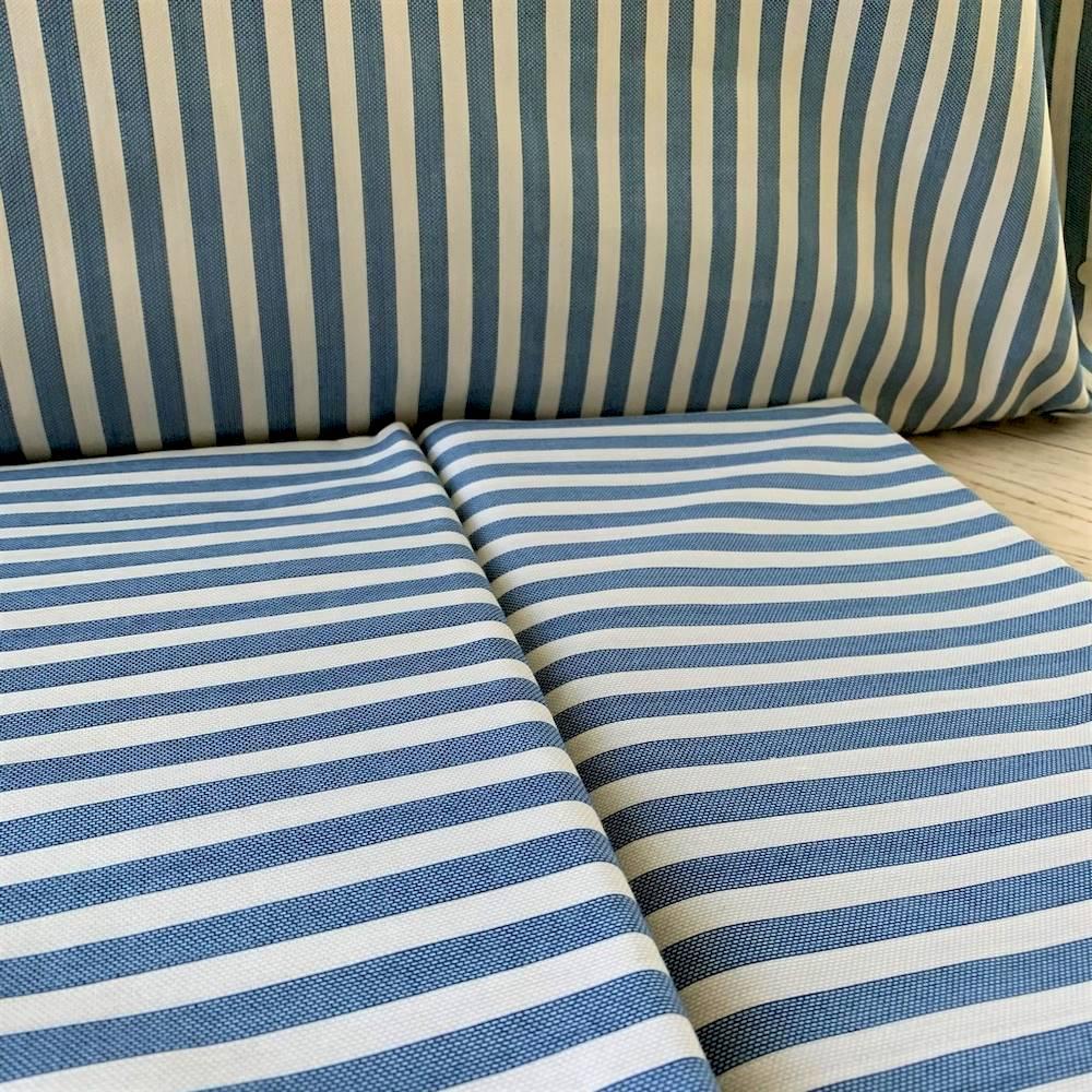 Completo Lenzuola Riga bastoncino blu singolo