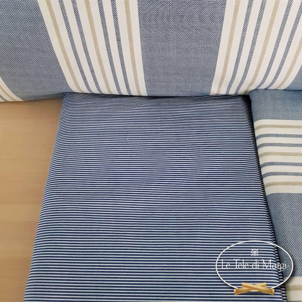 Completo Lenzuola Millerighe blu singolo