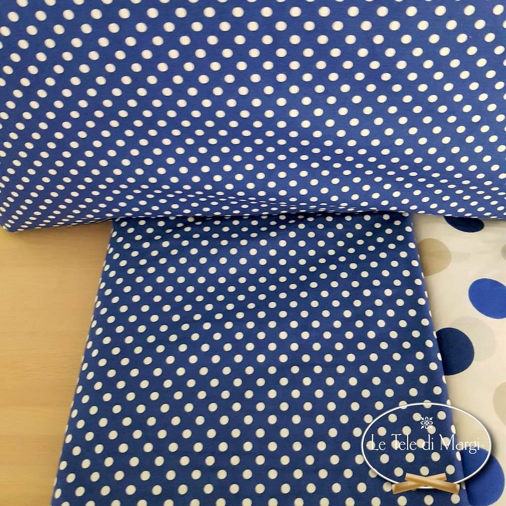 Completo Lenzuola Pois blu singolo
