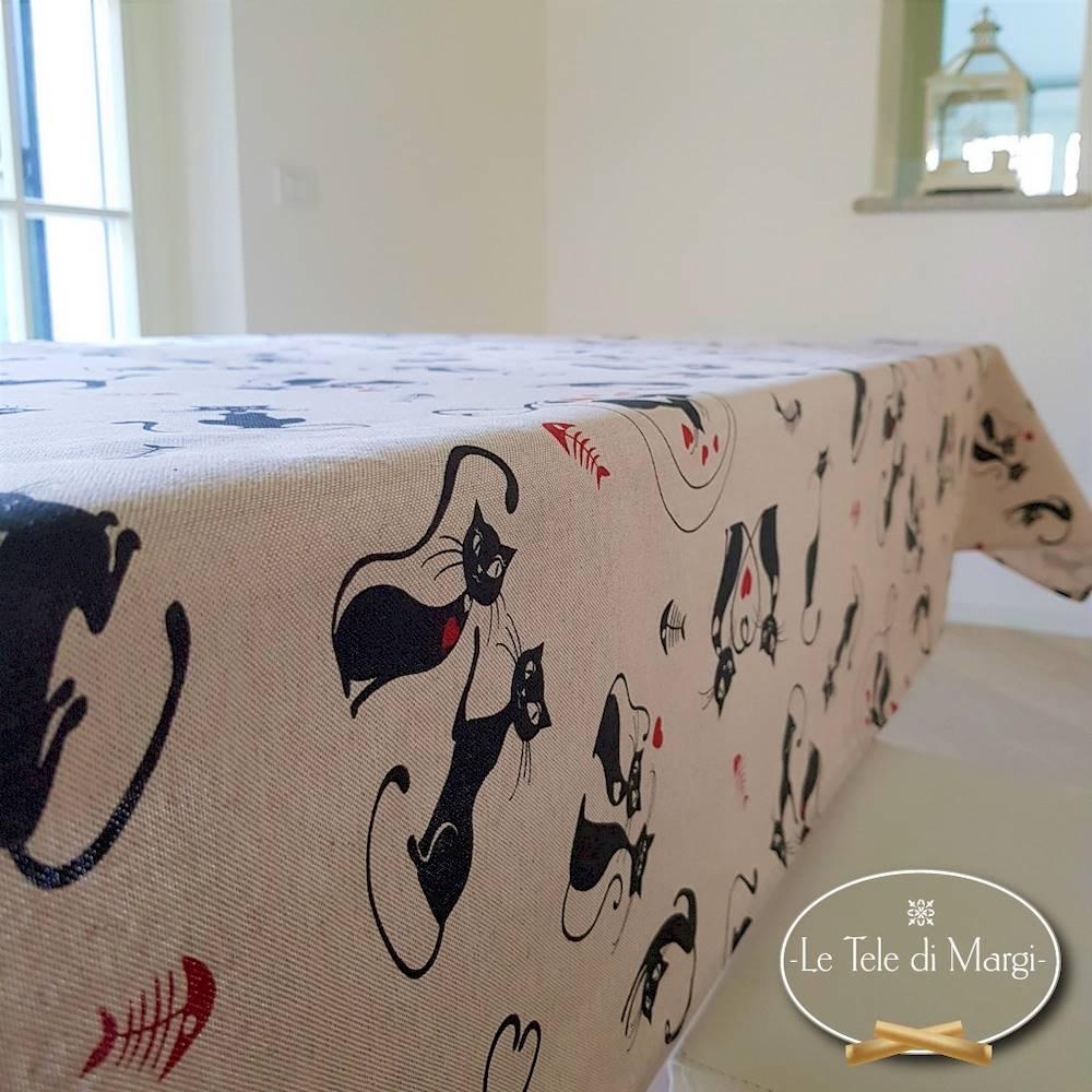 Tovaglia Gatti neri 140 x 300