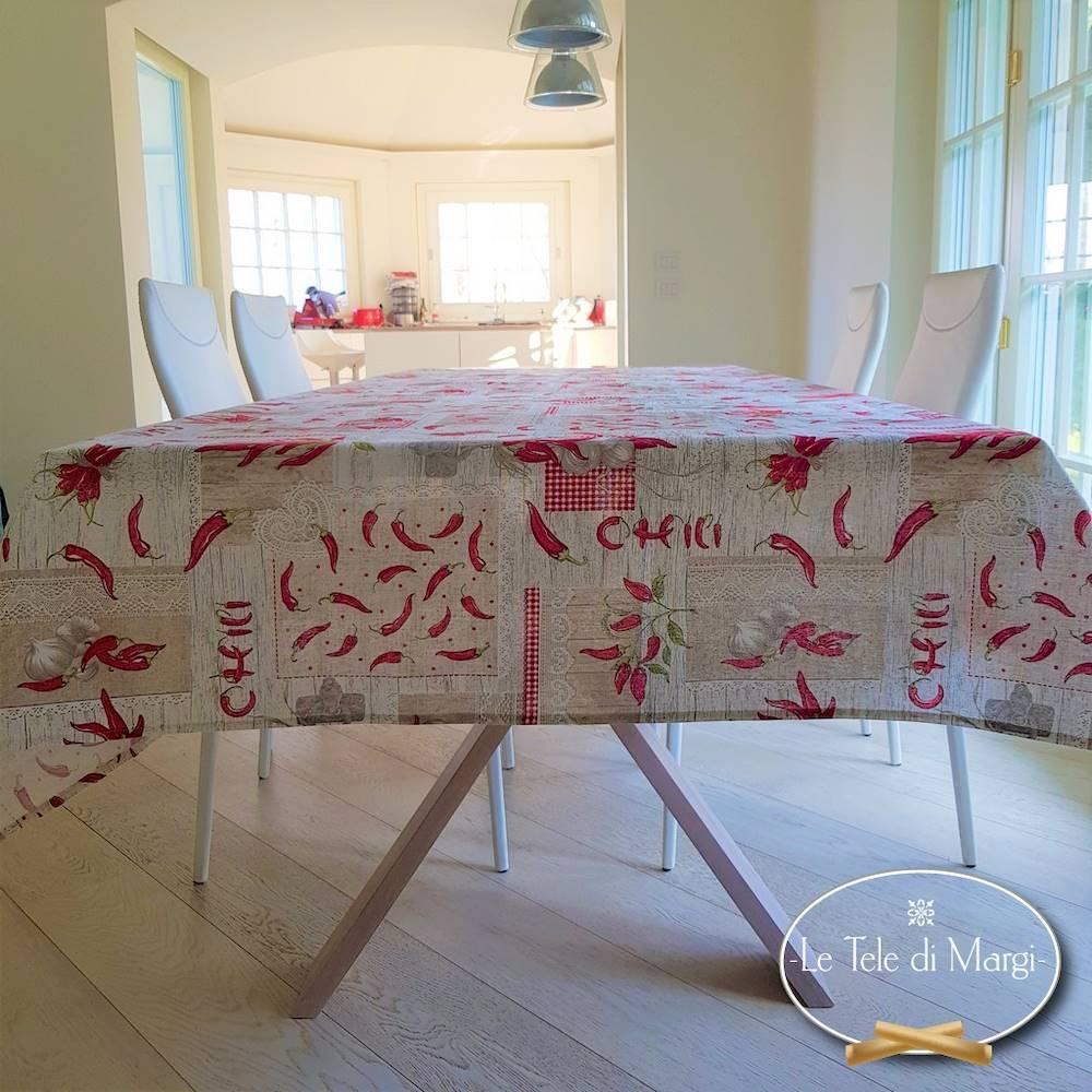 Tovaglia Peperoncino patchwork 140 x 300