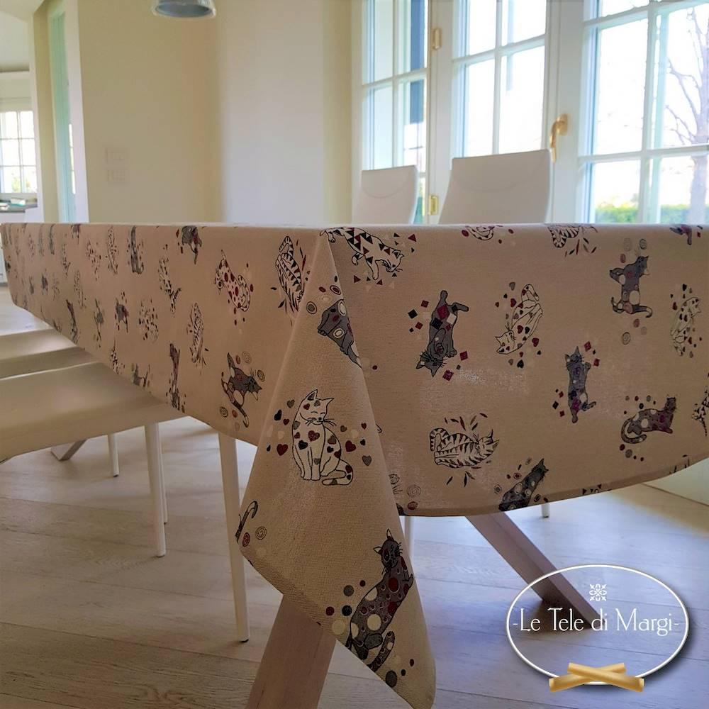 Tovaglia Gatti felici 140 x 240