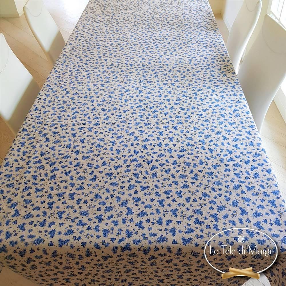 Tovaglia Violette blu 140 x 140