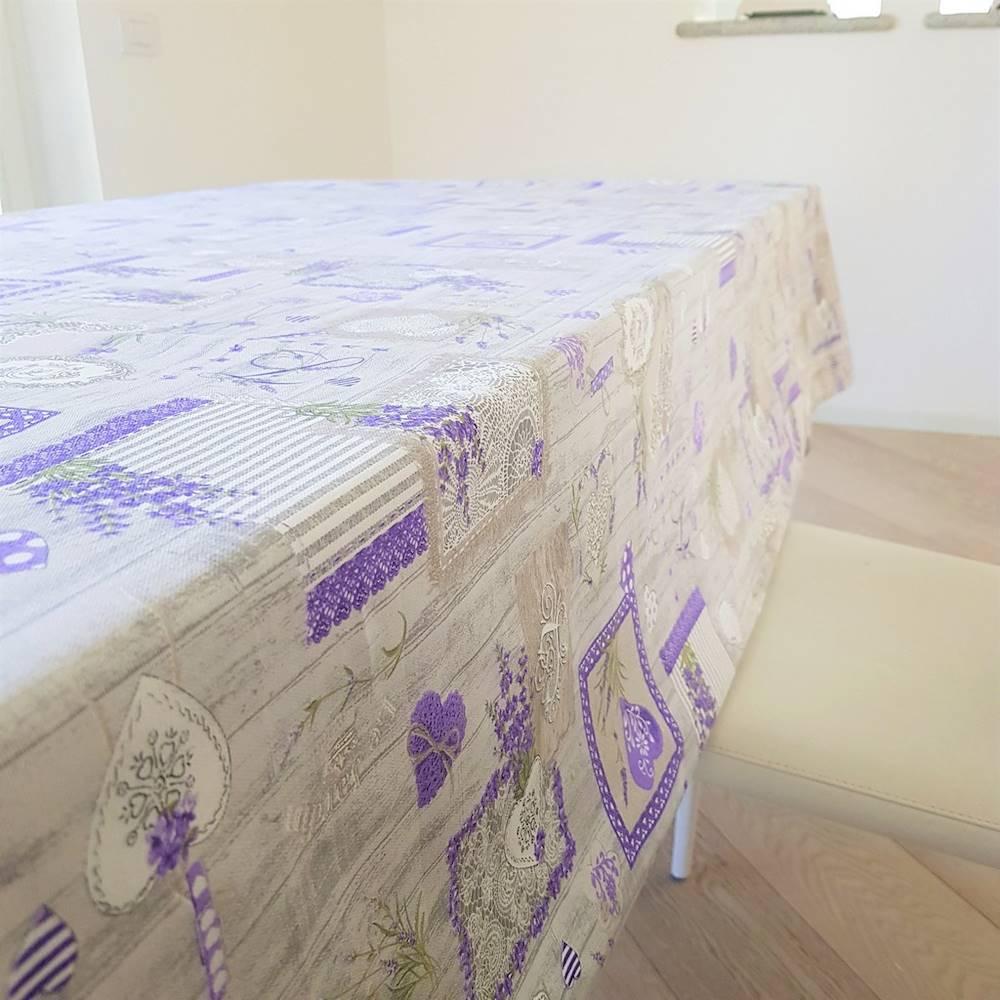 Tovaglia Lavanda grigia patchwork 140 x 140