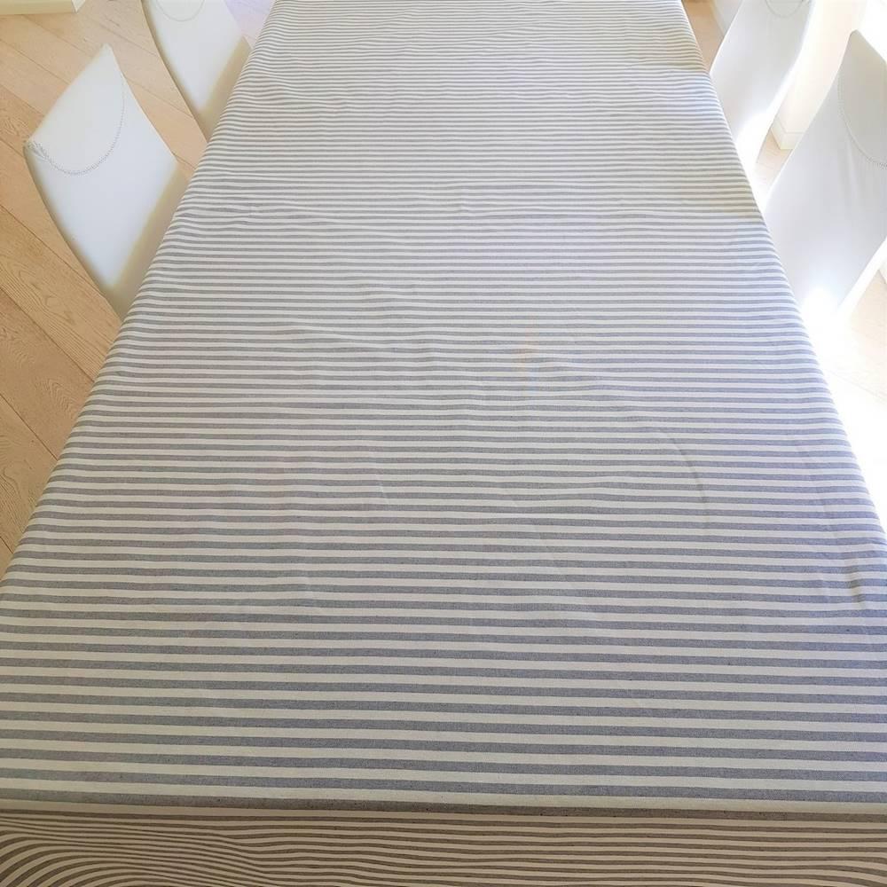 Tovaglia millerighe grigio 140 x 140