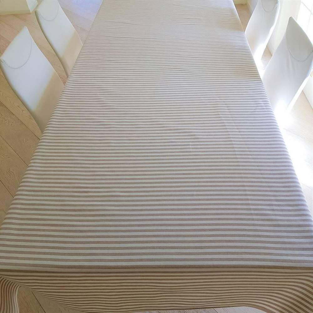 Tovaglia millerighe beige 140 x 140