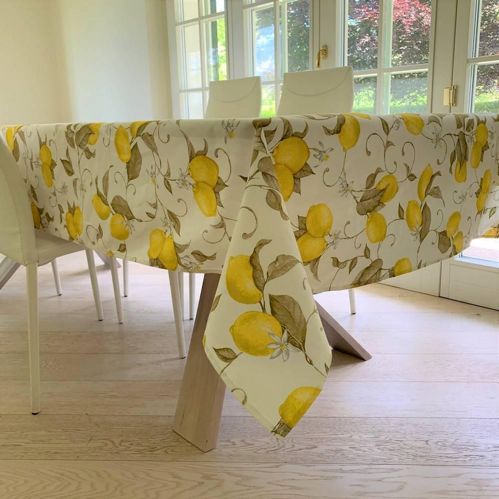 Tovaglia Limoni bianca 140 x 140
