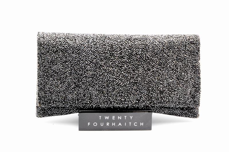 Twenty Fourhaitch-Pochette Donna Ely-Cristal/Black