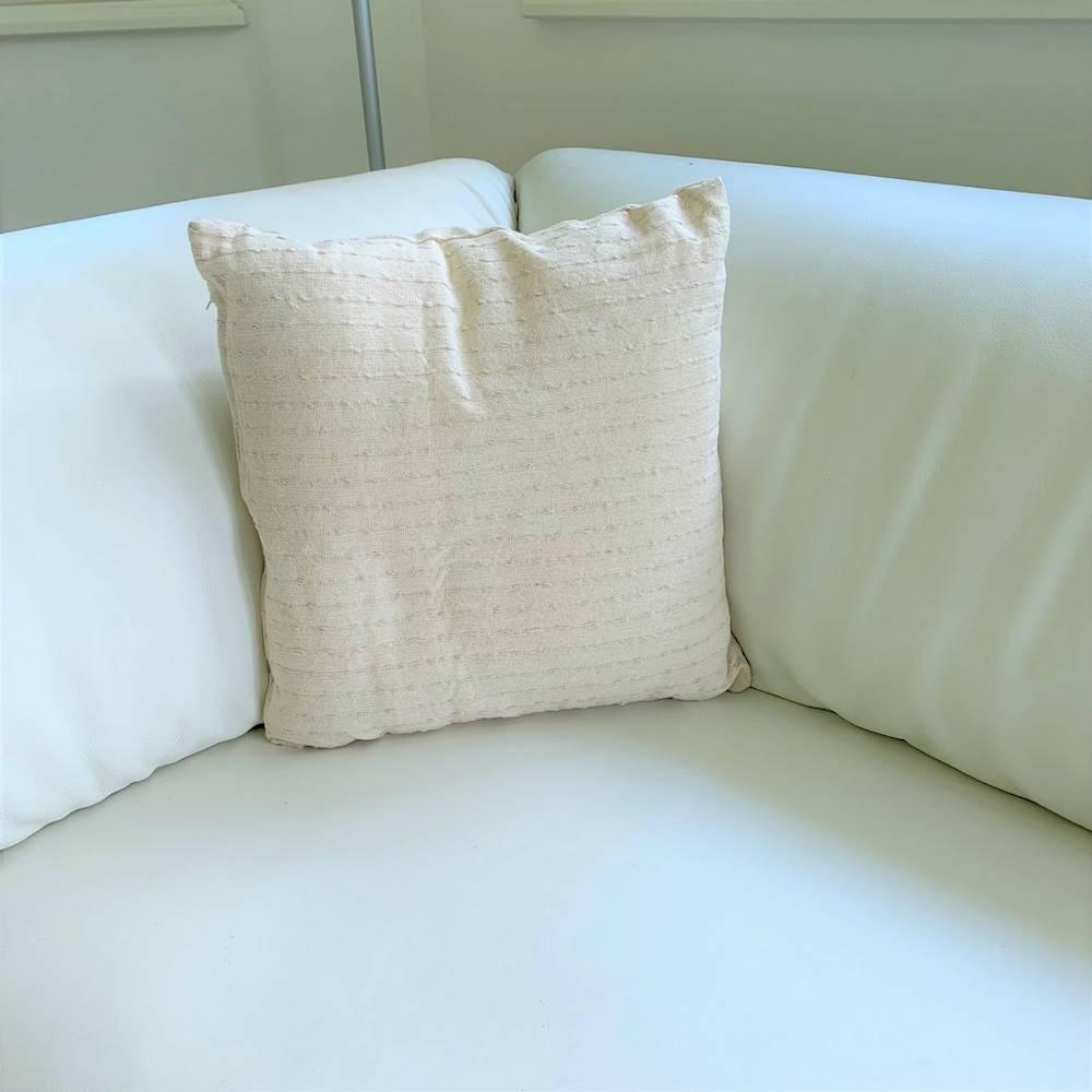 Fodera cuscino 40 x 40 cotone grezzo panna