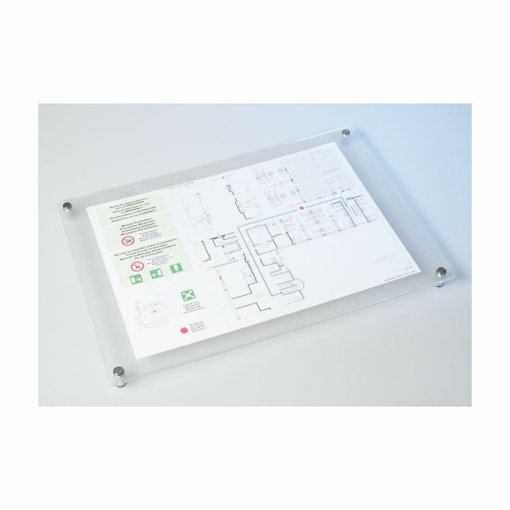Portalayout in plexiglass