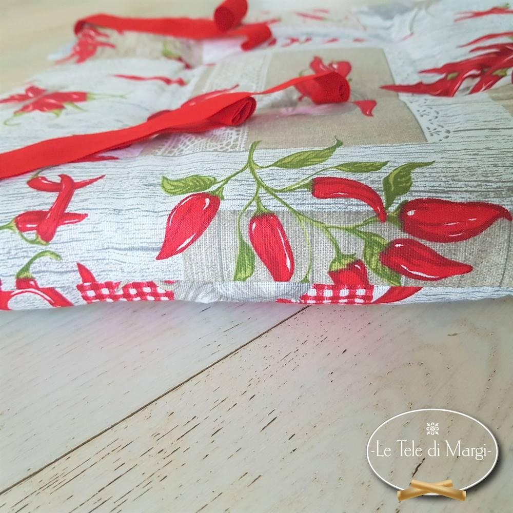 Cuscino per peperoncino patchwork