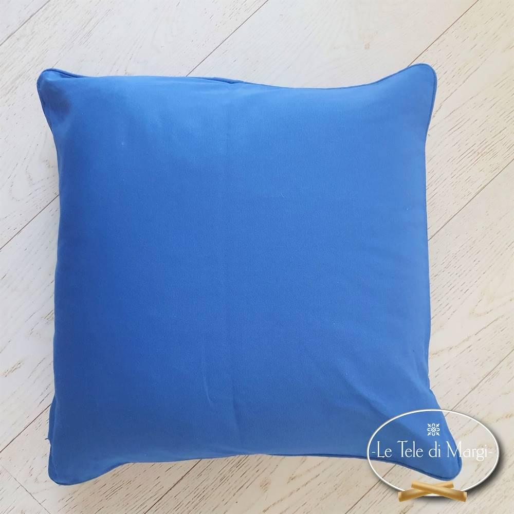 Fodera cuscino tinta unita Blu