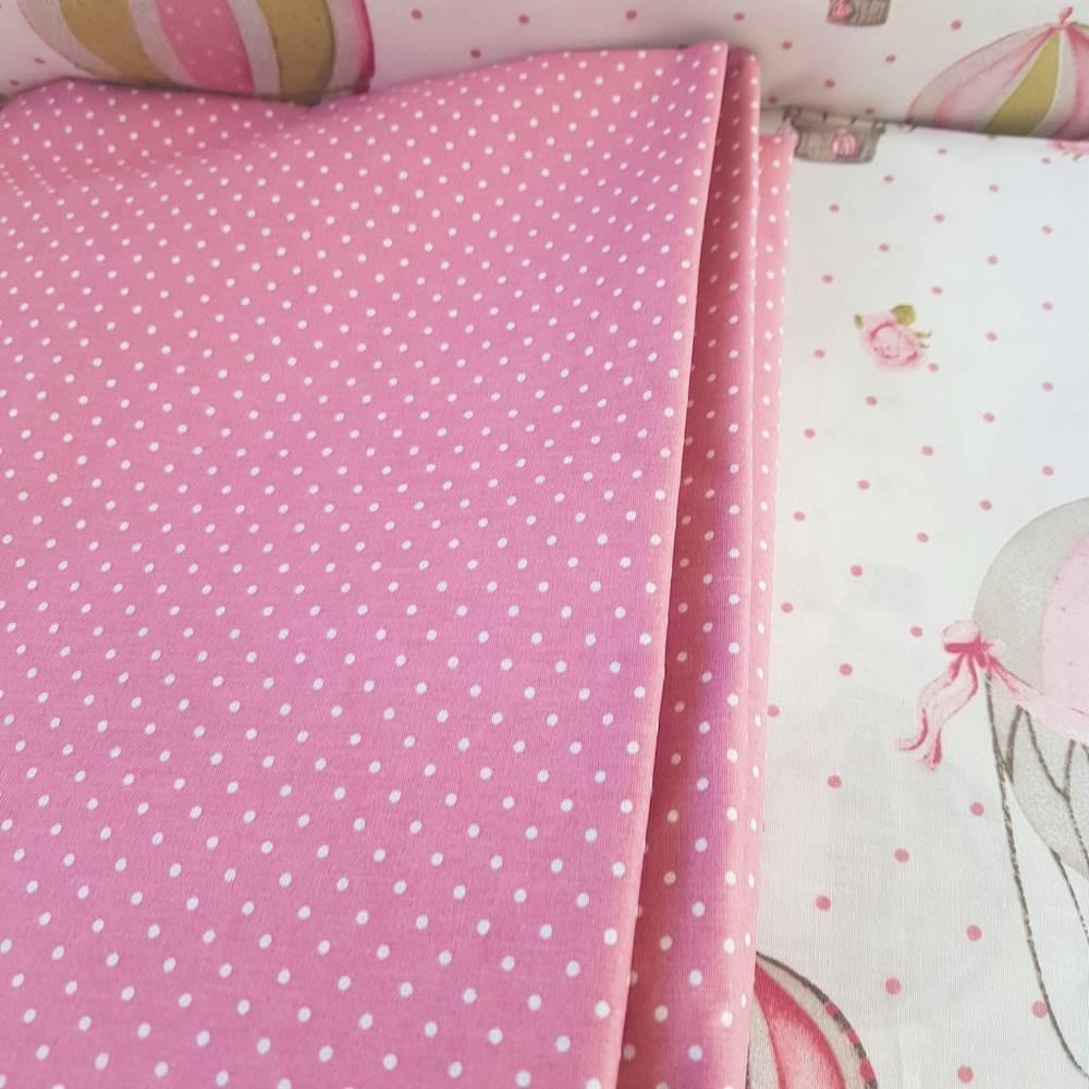Completo Lenzuola Mongolfiere rosa matrimoniale