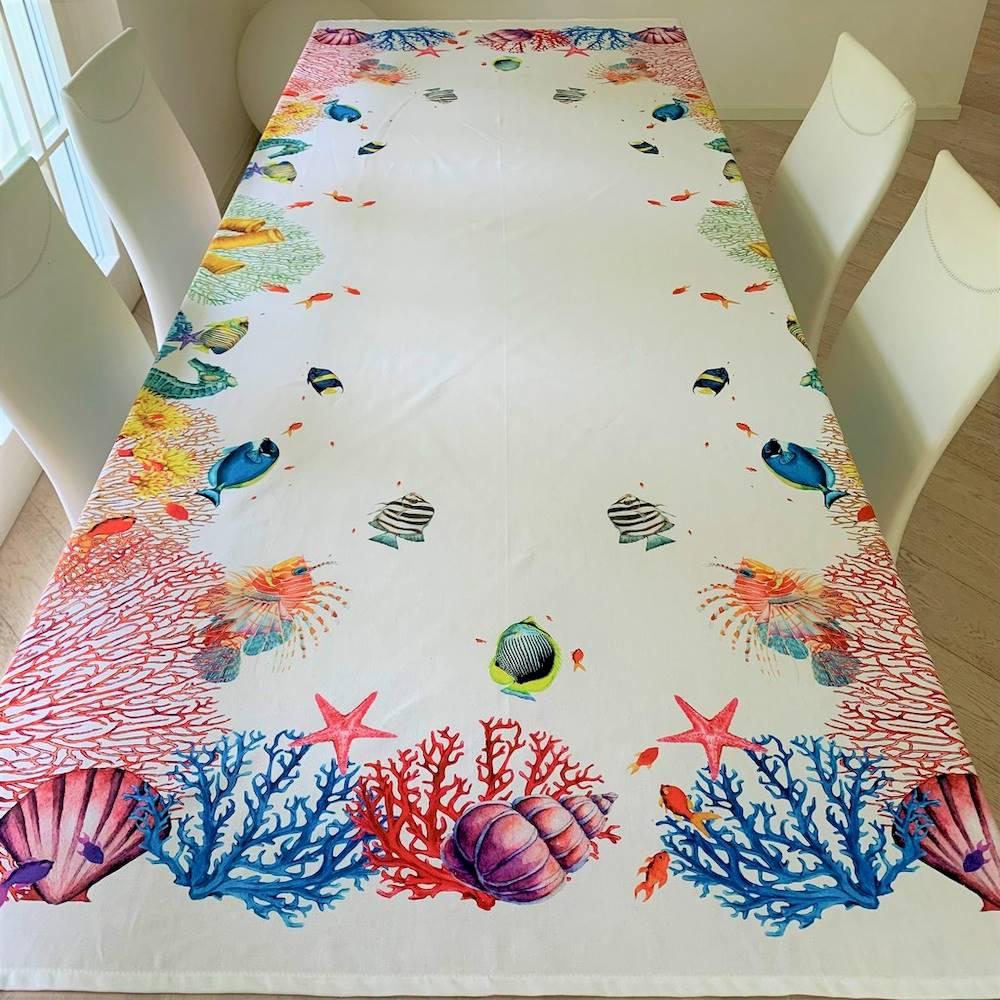 Tovaglia coralli stampa digitale 150 X 250