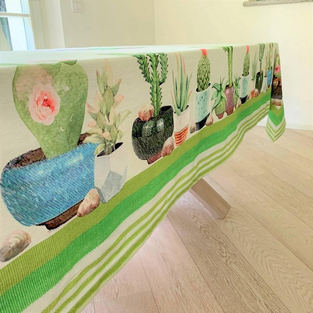 Tovaglia cactus in stampa digitale 150 X 250