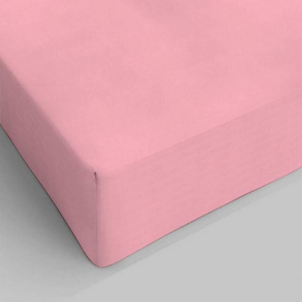 Lenzuolo da sotto con angoli rosa piazza e mezzo