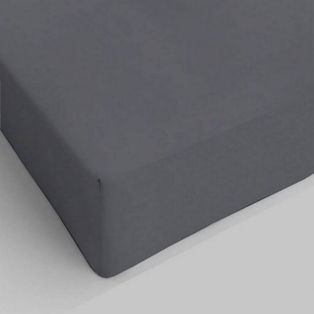 Lenzuolo da sotto con angoli grigio scuro piazza e mezzo